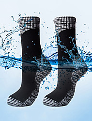 cheap -R-BAO Hiking Socks Socks 1 Pair Waterproof Breathable Warm Sweat-wicking Cotton Autumn / Fall Spring Summer for Men's Women's Fishing Climbing Camping / Hiking / Caving Black / Winter