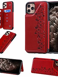 cheap -Case For Apple iPhone 11 / iPhone 11 Pro / iPhone 11 Pro Max Card Holder / with Stand Back Cover Cat PU Leather