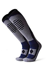 cheap -R-BAO Hiking Socks Socks 1 Pair Breathable Warm Sweat-wicking Comfortable Chinlon Elastane Autumn / Fall Spring Winter for Men's Ski / Snowboard Fishing Climbing Black Yellow Dark Navy / Cotton