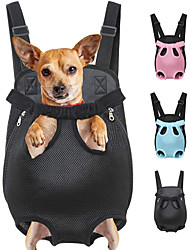 cheap -Cat Dog Carrier Bag Travel Backpack Front Backpack Portable Breathable Solid Colored Polyester Leopard Black Purple