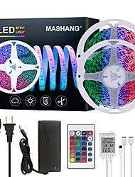 cheap -32.8ft 10M LED Strip Lights RGB Tiktok Lights 600LEDs Flexible Color Change SMD 5050 with 24 Keys IR Remote Controller and 100-240V Adapter for Home Bedroom Kitchen TV Back Lights DIY Deco