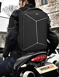 cheap -WOSAWE 20-35 L Hiking Backpack Rain Waterproof Outdoor Hiking Motobike / Motorcycle School Oxford Cloth Polyester Black+Sliver
