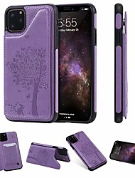 cheap -Case For Apple iPhone 11 / iPhone 11 Pro / iPhone 11 Pro Max Card Holder / with Stand / Magnetic Back Cover Cat / Tree PU Leather