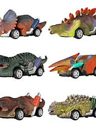 cheap -Vehicle Playset Pull Back Car / Inertia Car Jurassic Dinosaur Tyrannosaurus Tyrannosaurus Rex Cute Creative Cool PVC (Polyvinylchlorid) Plastic Mini Car Vehicles Toys for Party Favor or Kids Birthday