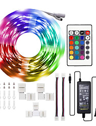 cheap -LED Strip Lights 1*10M RGB 5050LEDs Color Changing Full Kit with 24key Remote Control and Power Supply Mood Lamp for Room Bedroom Home Kitchen Indoor Decorations