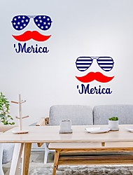 cheap -American Independence Day Wall Sticker Barber Self-adhesive Home Wall Decoration PVC Sticker