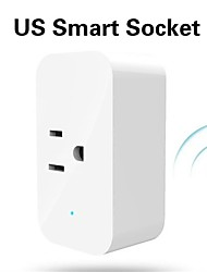 cheap -Smart Plug US WIFI Smart Plug for Living Room / Study / Bedroom Remote Monitoring / Voice Control / WIFI Control WIFI 100-240 V