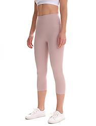 cheap -Women's High Waist Yoga Pants Capri Leggings Butt Lift 4 Way Stretch Breathable Black Red Pink Nylon Non See-through Yoga Running Fitness Sports Activewear High Elasticity / Moisture Wicking
