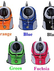 cheap -Dog Cat Pets Carrier Bag & Travel Backpack Dog Backpack Travel Casual Casual / Daily Fashion Nylon Baby Pet puppy Small Dog Outdoor Hiking Black Fuchsia Orange