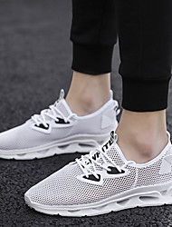cheap -Men's Summer Classic / Preppy Daily Outdoor Trainers / Athletic Shoes Hiking Shoes / Walking Shoes Mesh Waterproof Non-slipping Height-increasing White / Black / Gray