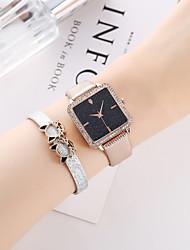 cheap -Women's Quartz Watches Quartz Novelty Stylish Antique Chronograph Analog Black Blushing Pink Light Gold / PU Leather / Imitation Diamond / Large Dial