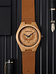 cheap -Men's Sport Watch Quartz Modern Style Stylish Fashion Calendar / date / day Day Date Analog Brown / Leather