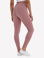 cheap -Women's High Waist Yoga Pants Cropped Leggings Butt Lift 4 Way Stretch Breathable White Black Purple Nylon Non See-through Yoga Running Fitness Sports Activewear High Elasticity / Moisture Wicking