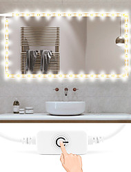 cheap -1m Flexible LED Light Strips 160 LEDs 2835 SMD 8mm 1 x On-line Dimmer Dwitch 1 set Warm White / White Waterproof / Cuttable / USB USB Powered