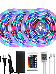 cheap -Bright RGBW LED Strip Lights 15M(3x5M) Waterproof RGBW Tiktok Lights 3510LEDs SMD 2835 with 24 Keys IR Remote Controller and 100-240V Adapter for Home Bedroom Kitchen TV Back Lights DIY Deco