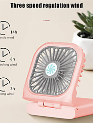 cheap -1pcs New Portable Hanging Neck Fan USB Handheld Travel Outdoor Home Folding Fan Charging Treasure Hand Mini Fan Rechargeable