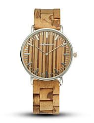 cheap -Men's Sport Watch Quartz Modern Style Stylish Fashion Water Resistant / Waterproof Wooden Analog Black Red Brown