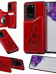 cheap -Case For Samsung Galaxy Galaxy S10 / Galaxy S10 Plus / Galaxy S10 E Card Holder / with Stand Back Cover Skull PU Leather