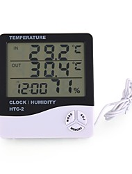 cheap -HTC-2 Thermohygrometer Single Temperature Large Screen Household Electronic Thermohygrometer With Alarm Clock