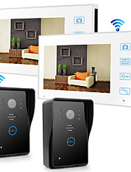 cheap -LITBest Wireless 2.4GHz 7 inch Hands-free 800*480 Pixel Two to Two video doorphone