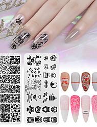 tanie -1 szt. Narzędzie do stemplowania paznokci Szablon do stemplowania Seria zwierzęca / Seria kwiatowa Uniwersalny Nail Art Manicure Pedicure Śliczne Codziennie