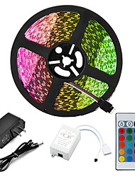 cheap -5m Light Sets LED Strip Lights RGB Tiktok Lights 2835 SMD 8mm Remote Control RC Cuttable Dimmable 12 V IP65 Waterproof Linkable Self-adhesive Color-Changing