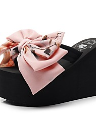cheap -Women's Slippers & Flip-Flops Flip-Flops Outdoor Slippers Wedge Heel Open Toe Daily Canvas Summer Blue Pink