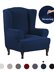 cheap -Stretch Wing Chair Slipcover Wingback Armchair Chair Slipcovers Sofa Covers 1-Piece Spandex Fabric Wing Back