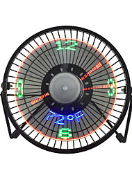cheap -New Hot Selling USB LED Clock Mini Fan With Real Time Temperature Display Desktop 360 Cooling Fans for Home Office