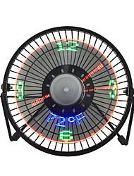 Недорогие -Новые горячие продажи USB светодиодные часы мини-вентилятор с отображением температуры в режиме реального времени настольные 360 вентиляторы охлаждения для домашнего офиса
