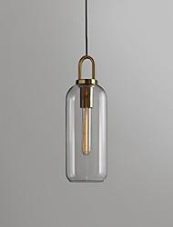 cheap -1-light Lantern Desgin Pendant Light Glass Electroplated Artistic / Modern 110-120V / 220-240V