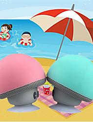 cheap -Cartoon small mushroom head Bluetooth sound box silicon rubber sucker desktop loudspeaker portable mobile phone bracket sound