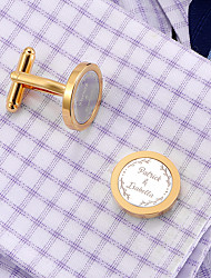 cheap -Personalized Customized Men's Cufflink Set Geometrical Geometric 1pc / pack Golden