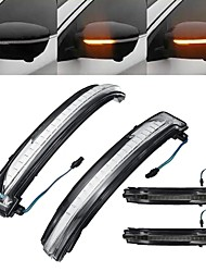 cheap -LED Side Wing Mirror Turn Indicator Lights Black/Clear Lens for Nissan Qashqai X-trail Juke Navara Pathfinder