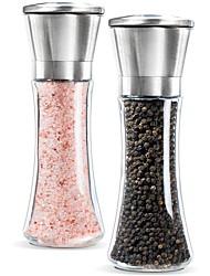 cheap -Salt and Pepper Grinder Set of 2 Adjustable Ceramic Sea Salt Grinder Pepper Grinder Shakers Pepper Mill 3 Packs Home Premium