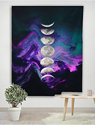 cheap -The moon in the uncertain tapestries background cloth decorative cloth polyester fiber material