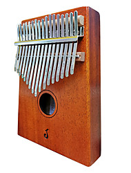cheap -Kalimba Finger Mbira Sanza Thumb Piano 17 Key Wooden Portable Musical Instrument Best Gift for Kids and Beginners