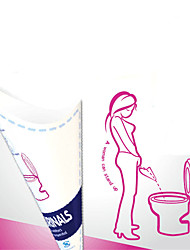 cheap -10pcs Disposable Paper Urinal Woman Urination Device Stand Up Pee for Camping Travel Portable Female Outdoor Toilet Tool