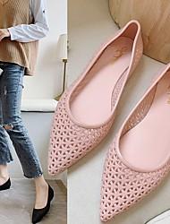 cheap -Women's Sandals / Flats Summer Flat Heel Pointed Toe Daily PU Black / Pink / Blue