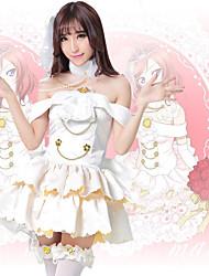 preiswerte -Inspiriert von Liebesleben Anime Cosplay Kostüme Japanisch Cosplay-Anzüge Kleider Kleid Kopfbedeckung Krawatten Für Damen