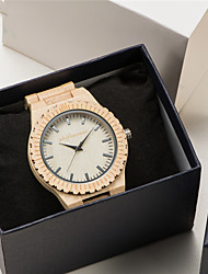 cheap -Women's Quartz Watches Quartz Casual Wooden Analog Wood Golden / Brown Golden+Silver / One Year / One Year