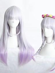 cheap -halloweencostumes Cosplay Costume Wig Cosplay Wig Lolita Straight Cosplay Halloween Neat Bang Wig Long Purple Synthetic Hair 23 inch Women's Anime Cosplay Waterfall Purple