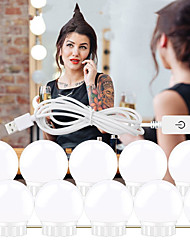 cheap -1set LED Makeup Mirror Light Vanity LED Light Bulbs Cosmetic Lighted Make up Mirrors Bulb Bright Lights Wall Lamp for Dressing Table