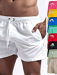 cheap -Men's Swim Shorts Swim Trunks Swimwear Board Shorts Bottoms Breathable Quick Dry Short Sleeve Drawstring - Swimming Diving Beach Solid Colored Autumn / Fall Spring Summer / Micro-elastic