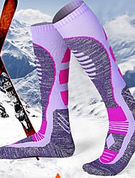 cheap -R-BAO Hiking Socks Socks 1 Pair Breathable Warm Sweat-wicking Comfortable Chinlon Elastane Autumn / Fall Spring Winter for Women's Ski / Snowboard Fishing Climbing Purple / Cotton