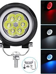 Недорогие -3 дюйма 60 Вт светодиодный рабочий свет автомобиля круг фар противотуманные фары внедорожник ip67 6000 К