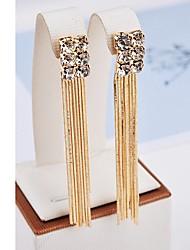 cheap -Women's Drop Earrings Tassel Fringe Stylish Imitation Diamond Earrings Jewelry Gold For Date