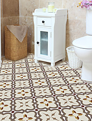 cheap -wall stickers household self adhesive tile stickers bathroom toilet waterproof wear-resistant floor stickers 4Pcs 30*30cm