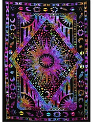 cheap -Garden Theme / Bohemian Theme Wall Decor Polyester Contemporary / Bohemia Wall Art Wall Tapestries Decoration Psychedelic celestial sun moon tapestry Planet Bohemian tapestry wall hanging dormitory de