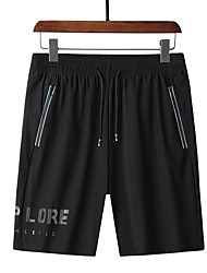 cheap -Men's Hiking Shorts Solid Color Summer Outdoor Loose Breathable Quick Dry Sweat-wicking Comfortable Cotton Shorts Bottoms Black Hunting Fishing Climbing L XL XXL XXXL 4XL - DZRZVD® / Wear Resistance